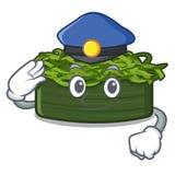 Το chuka αστυνομίας wakame είναι εξυπηρετούμενα πιάτα κινούμενων σχεδίων απεικόνιση αποθεμάτων