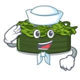 Το chuka ναυτικών wakame είναι εξυπηρετούμενα πιάτα κινούμενων σχεδίων απεικόνιση αποθεμάτων