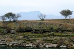 Το Cijevna πέφτει κοντά σε Podgorica Μαυροβούνιο Στοκ Φωτογραφία