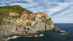 Το Cinque Terre, Λιγυρία, φέρνοντας τουρίστας πορθμείων Italy Στοκ Φωτογραφίες