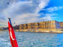 Το ciragan παλάτι Κωνσταντινούπολη στην Τουρκία στοκ φωτογραφία