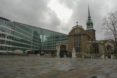 Το citi του Λονδίνου, αντίθεση Στοκ φωτογραφία με δικαίωμα ελεύθερης χρήσης
