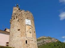 Το clocktower σε Anduze στοκ φωτογραφίες