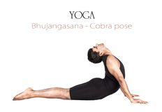 το cobra bhujangasana θέτει τη γιόγκα Στοκ Εικόνες