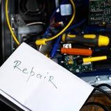 Το Coimputer χρειάζεται την επισκευή Στοκ Φωτογραφία
