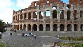 Το coliseum στη Ρώμη απόθεμα βίντεο