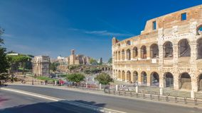 Το Colosseum ή το Coliseum timelapse hyperlapse, επίσης γνωστός ως αμφιθέατρο Flavian στη Ρώμη, Ιταλία φιλμ μικρού μήκους