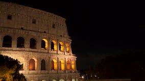 Το Colosseum τη νύχτα, Ρώμη απόθεμα βίντεο