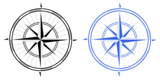 Το Compas αυξήθηκε Στοκ Εικόνα