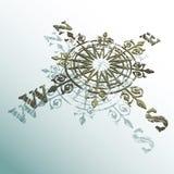 Το Compas αυξήθηκε Στοκ Φωτογραφία