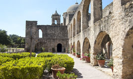 Το Convento στην αποστολή San Jose, San Antonio, Τέξας, ΗΠΑ Στοκ Φωτογραφία