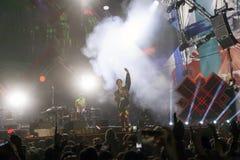 Το Cosmo αποδίδει στη σκηνή της συναυλίας του πρώτου του Μαΐου Στοκ φωτογραφία με δικαίωμα ελεύθερης χρήσης