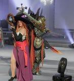 Το Cosplayer έντυσε ως μάγισσα χαρακτήρα Στοκ Εικόνες