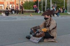 Το Cosplayer έντυσε ως χαρακτήρας από την ένωση παιχνιδιών των μύθων Στοκ εικόνα με δικαίωμα ελεύθερης χρήσης