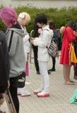 Το Cosplayer έντυσε ως χαρακτήρας από τον κινηματογράφο anime Στοκ Εικόνες