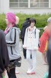 Το Cosplayer έντυσε ως χαρακτήρας από τον κινηματογράφο anime Στοκ φωτογραφίες με δικαίωμα ελεύθερης χρήσης