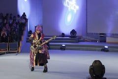 Το Cosplayer έντυσε ως χαρακτήρας Kamui Gakupo, vocaloid Στοκ Εικόνες