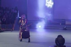 Το Cosplayer έντυσε ως χαρακτήρας Kamui Gakupo, vocaloid Στοκ εικόνες με δικαίωμα ελεύθερης χρήσης
