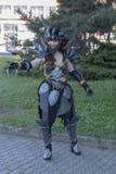 Το Cosplayer έντυσε ως χαρακτήρας Neltharion, Deathwing Στοκ Φωτογραφίες