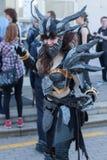 Το Cosplayer έντυσε ως χαρακτήρας Neltharion, Deathwing Στοκ φωτογραφία με δικαίωμα ελεύθερης χρήσης