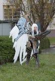 Το Cosplayer έντυσε ως χαρακτήρας Uriel από το παιχνίδι Darksider Στοκ φωτογραφία με δικαίωμα ελεύθερης χρήσης