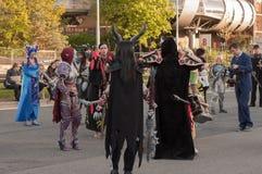 Το Cosplayers έντυσε ως χαρακτήρες από τον κόσμο παιχνιδιών Warcraft Στοκ φωτογραφίες με δικαίωμα ελεύθερης χρήσης