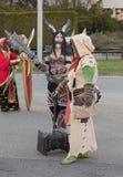Το Cosplayers έντυσε ως χαρακτήρες από τον κόσμο παιχνιδιών Warcraft Στοκ Φωτογραφία