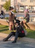 Το Cosplayers έντυσε ως χαρακτήρες από τους κινηματογράφους σε Animefest Στοκ Εικόνες