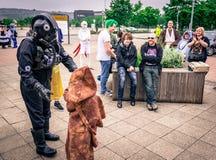 Το Cosplayers έντυσε ως χαρακτήρες ` από ` Star Wars ` Στοκ Εικόνα