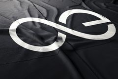 Το cryptocurrency AE Aeternity τρισδιάστατο δίνει τη σημαία διανυσματική απεικόνιση
