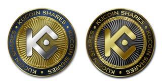 Το Cryptocurrency KUCOIN ΜΟΙΡΆΖΕΤΑΙ το νόμισμα Ελεύθερη απεικόνιση δικαιώματος
