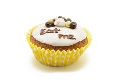 Το Cupcake, με τρώει Στοκ Εικόνα