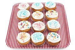 Το Cupcakes, muffins με ψεκάζει Στοκ φωτογραφίες με δικαίωμα ελεύθερης χρήσης