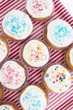 Το Cupcakes, muffins με ψεκάζει Στοκ Εικόνες