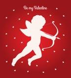 Το Cupid είναι η κάρτα βαλεντίνων μου Στοκ Εικόνα