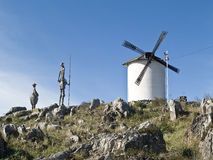 το de φορά το μνημείο Δον Κιχ Στοκ Εικόνα