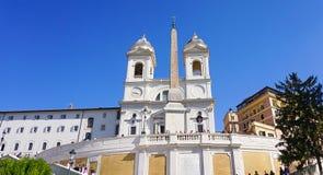 Το dei Monti Trinita στη Ρώμη, Ιταλία στοκ εικόνα με δικαίωμα ελεύθερης χρήσης