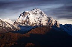 Το Dhaulagiri τοποθετεί - δείτε από το Hill Poon, Νεπάλ Ιμαλάια Στοκ Φωτογραφία