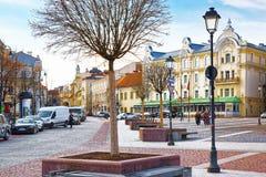 Το Didzioji είναι μια οδός στο ιστορικό μέρος της παλαιάς πόλης του Β Στοκ Εικόνες