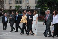 Το Dilma Rousseff παρευρίσκεται στο άνοιγμα του μουσείου του αύριο στο Ρίο Στοκ Φωτογραφίες
