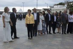Το Dilma Rousseff παρευρίσκεται στο άνοιγμα του μουσείου του αύριο στο Ρίο Στοκ φωτογραφία με δικαίωμα ελεύθερης χρήσης