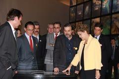 Το Dilma Rousseff παρευρίσκεται στο άνοιγμα του μουσείου του αύριο στο Ρίο Στοκ φωτογραφίες με δικαίωμα ελεύθερης χρήσης