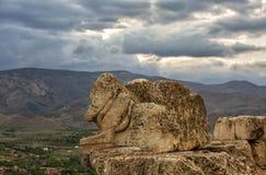 Το divriÄŸi Castle και το άγαλμα λιονταριών στοκ φωτογραφία με δικαίωμα ελεύθερης χρήσης