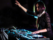 το DJ αναμιγνύει τη διαδρομ διανυσματική απεικόνιση