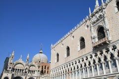 Το Doge παλάτι και ο καθεδρικός ναός του SAN Marco, Veni στοκ εικόνα