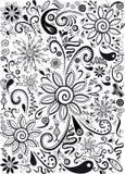 Το Doodles ανθίζει και βγάζει φύλλα Στοκ εικόνες με δικαίωμα ελεύθερης χρήσης