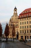 Το Dresdner Frauenkirche (εκκλησία της κυρίας μας) Στοκ εικόνες με δικαίωμα ελεύθερης χρήσης