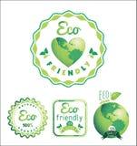 Το Eco ονομάζει το βιο πρότυπο Θέμα οικολογίας Στοκ φωτογραφία με δικαίωμα ελεύθερης χρήσης