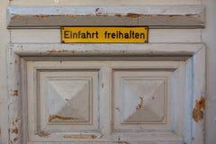Το Einfahrt στοκ φωτογραφία με δικαίωμα ελεύθερης χρήσης