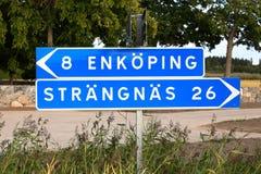 Το Enkoping και Strangnas καθοδηγούν Στοκ εικόνα με δικαίωμα ελεύθερης χρήσης